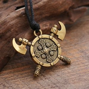 Other - Viking Shield & Axe Talisman Necklace